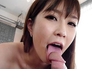 Japanese brunette, Kotone Amamiya fucks in a hotel room, unc