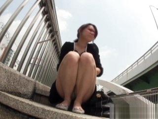 Japanese cutie urinates in public area