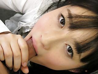 Japanese girl, Tomomi Motozawa sucks dick, uncensored