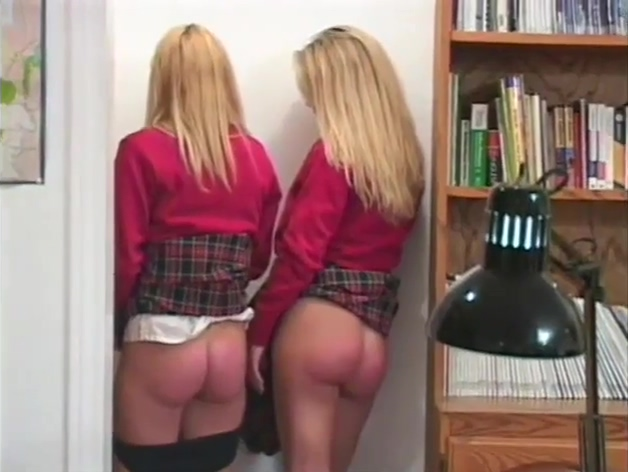 Blonde Schoolgirls Spanked and punished
