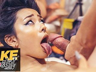 Fake Hostel Asian Japanese Rae Lil Black rough sex