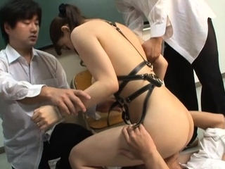 Wicked scenes of fur pie stimulation by a teacher