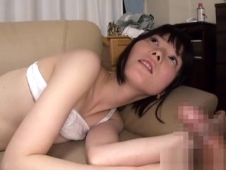 Small Asian Takes A Load On Petite Boobies