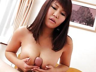 Japanese darling, Amiru Kinohara rides dick, uncensored