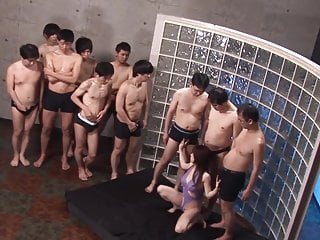 Subtitled Japan AV star Monbu Ran Uncensored Blowjob Party