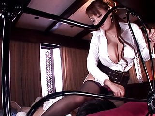 Japanese with huge big tits making a blowjob