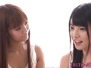 Beautiful young japanese lesbians scissoring