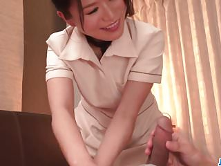 Nana Nakamura gives massage and receives cock in return