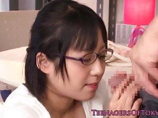 Innocent asian firsttimer geek fucking in glasses
