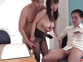 Premium office sex along nude babe Rina Mayuzumi