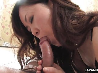 Slutty Asian with hot lingerie riding the fat prick